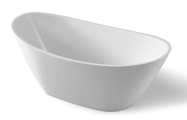 ANZZI Cross Series 5.58 ft. Freestanding Bathtub in White