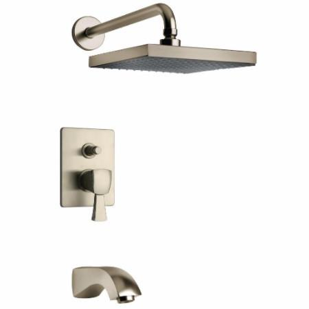 Latoscana Lady Pressure Balance Valve Tub And Shower Set In Brushed Nickel bathtub and showerhead faucet systems Latoscana