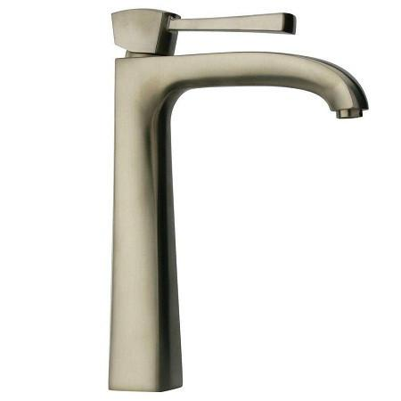 Latoscana Lady Single Handle Tall Lavatory Faucet Brushed Nickel touch on bathroom sink faucets Latoscana