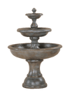 Mantova Three Tier Cast Stone Outdoor Garden Fountain Fountain Tuscan