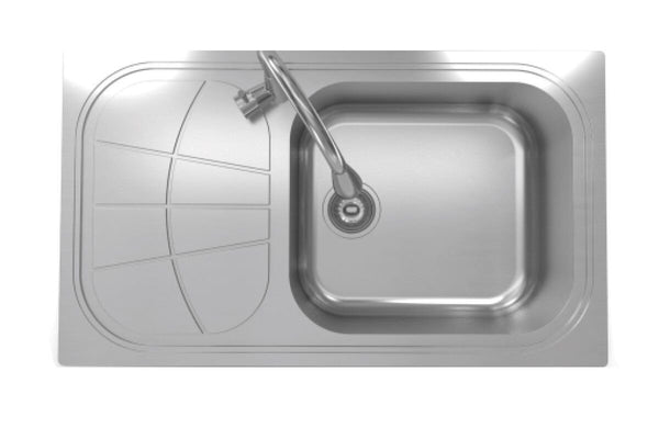 "Cantrio Stainless Steel 33 7/8"" Kitchen Sink Right"