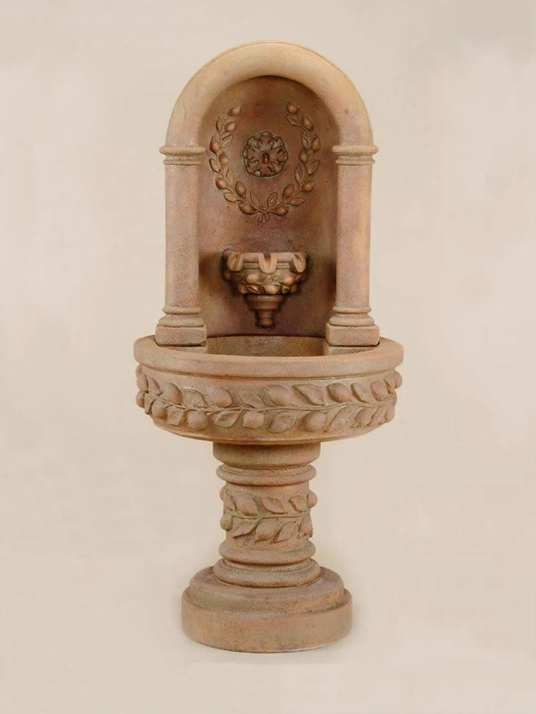 Deruta lemon Niche Cast Stone Outdoor Fountain Fountain Tuscan