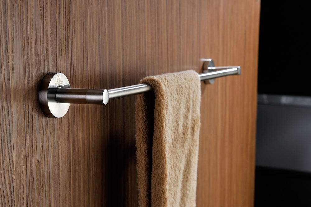 ANZZI Caster Series Towel Bar in Brushed Nickel Towel Bar ANZZI