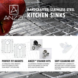 ANZZI VANGUARD Series K32192A-035B Kitchen Sink