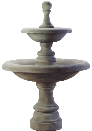 Westminster Two Tier Cast Stone Outdoor Fountain Fountain Tuscan