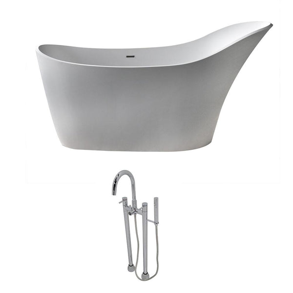 ANZZI Alto FT507-0027 FreeStanding Bathtub