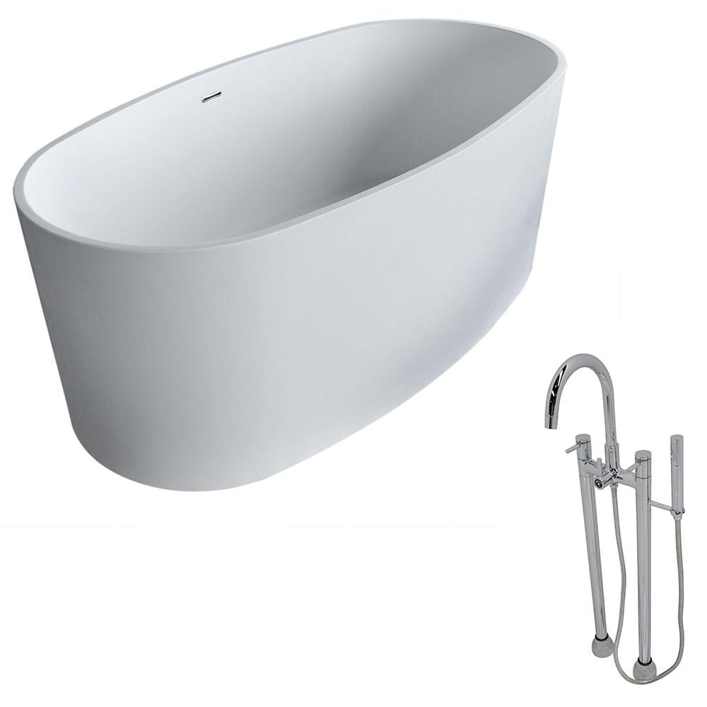 ANZZI Roccia FT505-0027 FreeStanding Bathtub FreeStanding Bathtub ANZZI