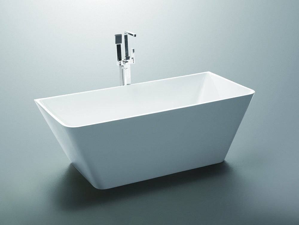 ANZZI Zenith Series 5.58 ft. Freestanding Bathtub in White FreeStanding Bathtub ANZZI