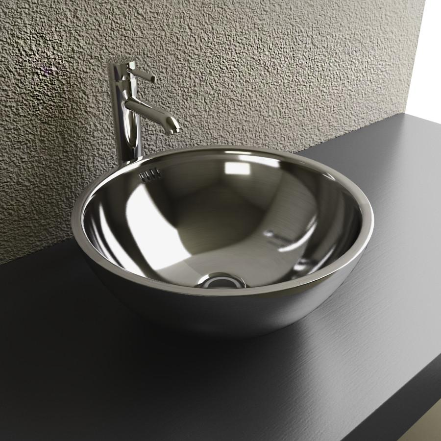 Cantrio Stainless Steel Bathroom Vessel Sink MS-001 Steel Series Cantrio