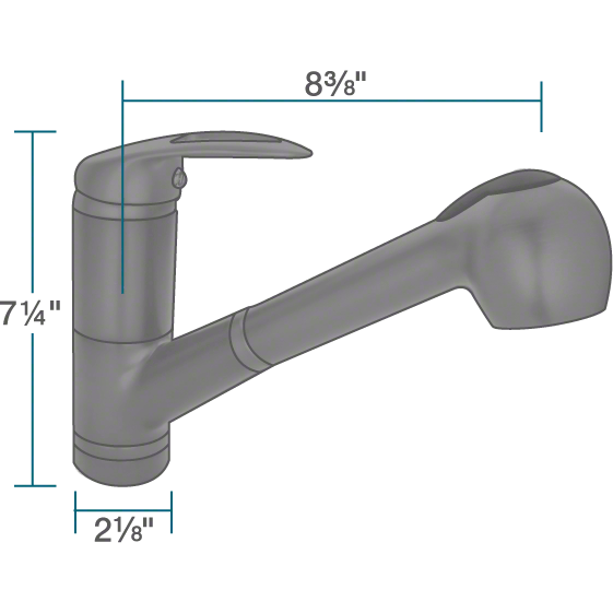 Sir Faucet 708 Kitchen Faucet with Pull-Out Spray Kitchen Faucet Sir Faucet
