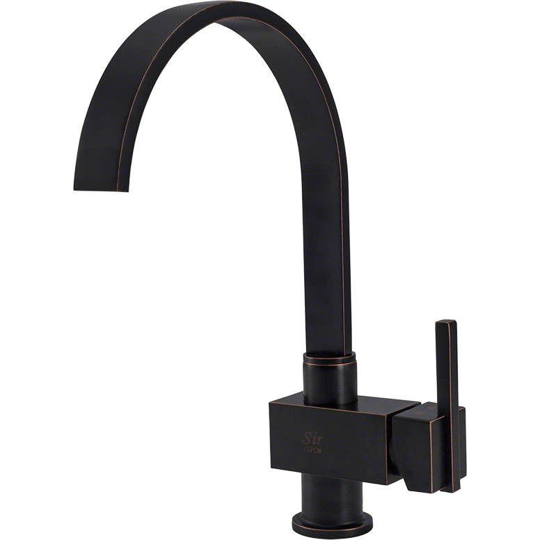 Sir Faucet 712- Single Handle Kitchen Faucet Kitchen Faucet Sir Faucet Antique Bronze
