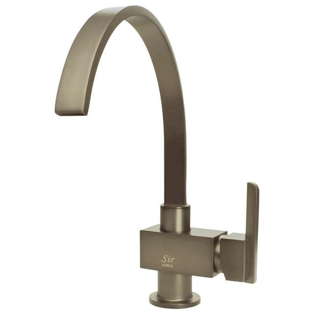 Sir Faucet 712- Single Handle Kitchen Faucet Kitchen Faucet Sir Faucet Brushed Nickel