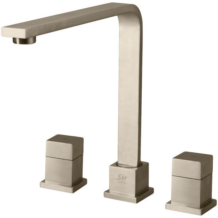 Sir Faucet 744 Double Handle Kitchen Faucet Kitchen Faucet Sir Faucet Brushed Nickel
