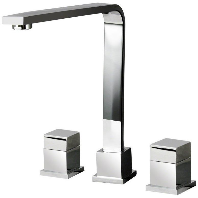 Sir Faucet 744 Double Handle Kitchen Faucet Kitchen Faucet Sir Faucet Chrome