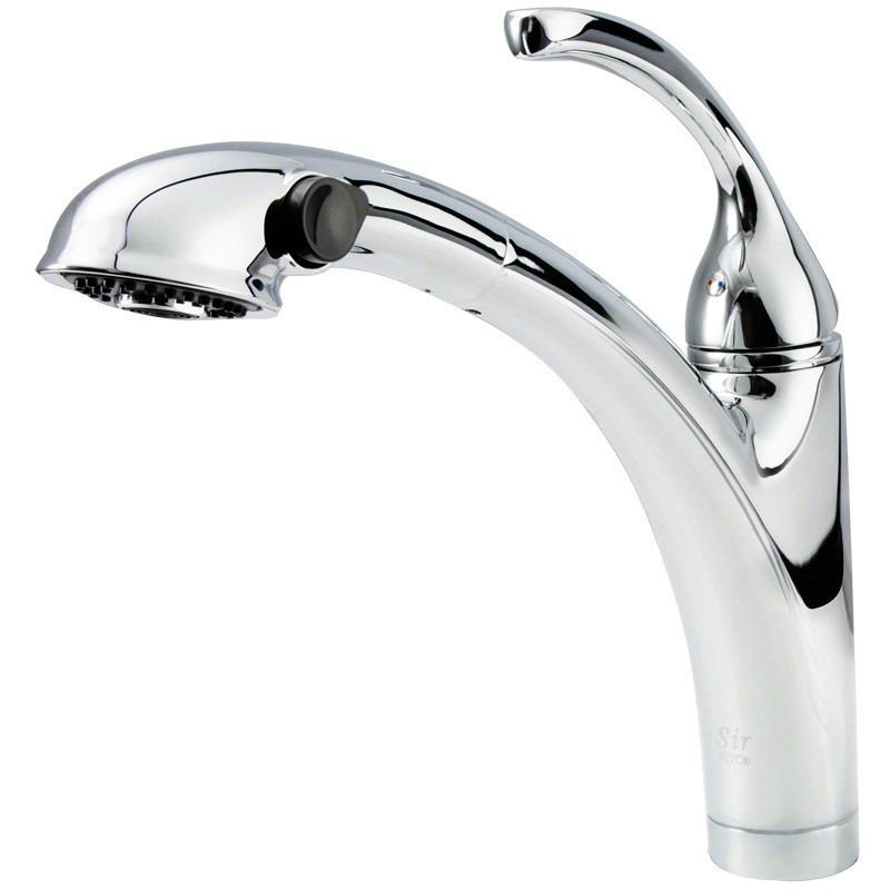 Sir Faucet 765- Pull Out Spray Kitchen Faucet Kitchen Faucet Sir Faucet Chrome