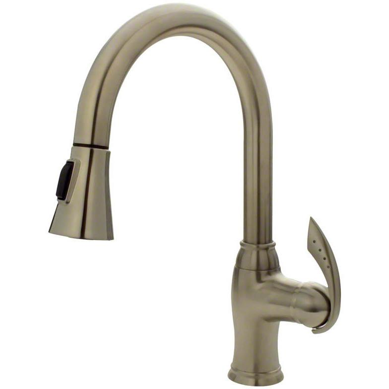 Sir Faucet 772- Pull Down Kitchen Faucet Kitchen Faucet Sir Faucet Brushed Nickel