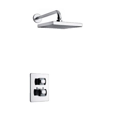 Latoscana Lady thermostatic valve with 3/4 ceramic disc valve Option 1 in Chrome bathtub and showerhead faucet systems Latoscana