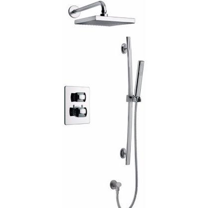 Latoscana Lady thermostatic valve with 2 way diverter volume control in Chrome bathtub and showerhead faucet systems Latoscana