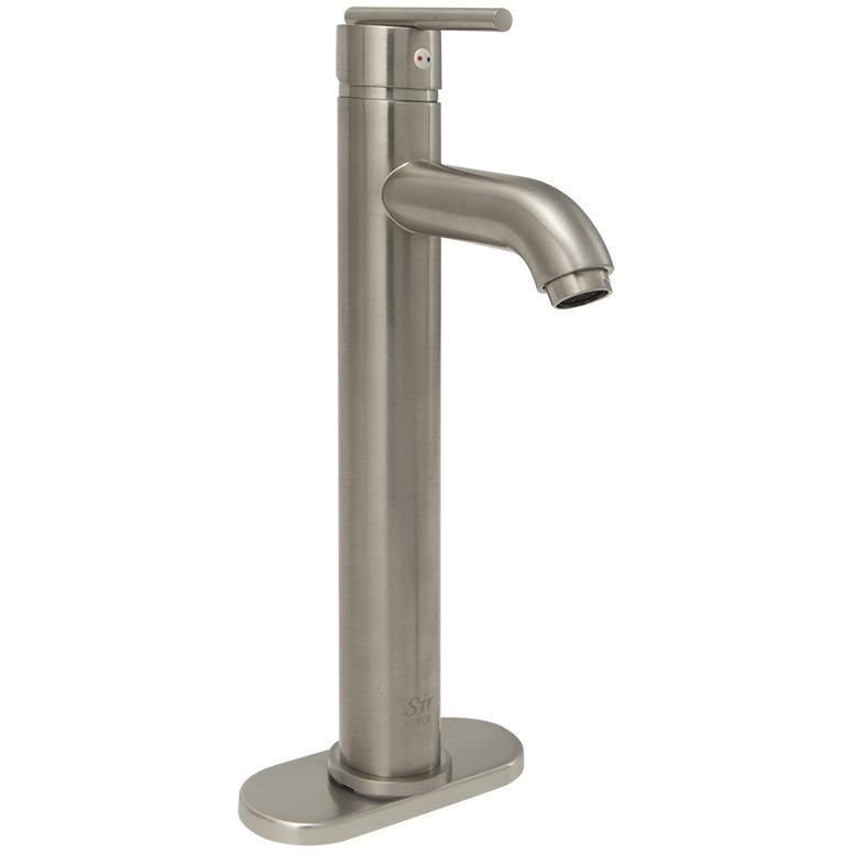 Sir Faucet 718- Vessel Lavatory Faucet Lavatory Faucet Sir Faucet Brushed Nickel