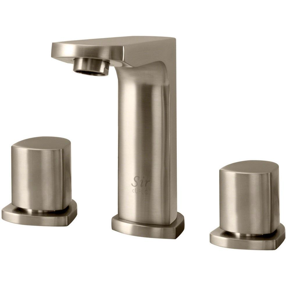 Sir Faucet 728- Widespread Lavatory Faucet Lavatory Faucet Sir Faucet Brushed Nickel