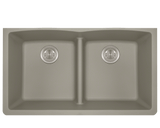Polaris P218ST Double Equal Bowl Low-Divide Undermount TruGranite Sink