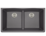 Polaris P218S Double Equal Bowl Low-Divide Undermount TruGranite Sink