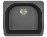 Polaris P428TBL D-Bowl Topmount AstraGranite Sink