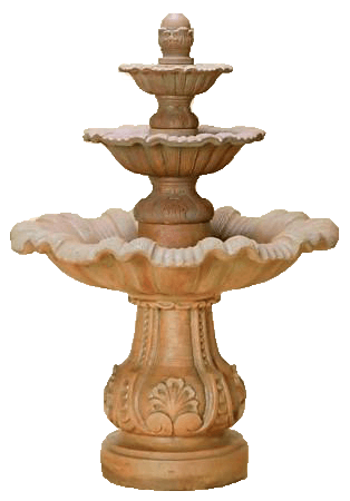 Mallorca Three Tier Cast Stone Outdoor Garden Fountain Tall Tuscan