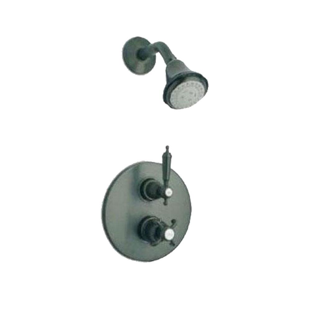 Latoscana Ornellaia Option 2 Thermostatic Valve In a Brushed Nickel Finish bathtub and showerhead faucet systems Latoscana