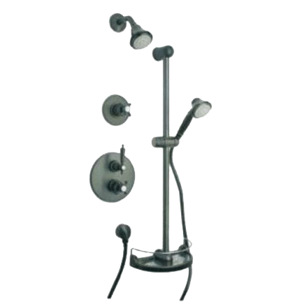 Latoscana Ornellaia Option 3 Thermostatic Valve In A Brushed Nickel Finish bathtub and showerhead faucet systems Latoscana
