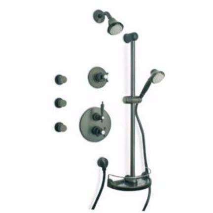 Latoscana Ornellaia Option 7 thermostatic valve shower system in a Chrome finish bathtub and showerhead faucet systems Latoscana