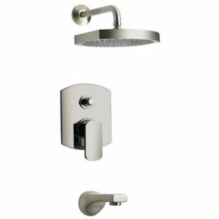 Latoscana Novello Pressure Balance Valve Tub And Shower In Brushed Nickel bathtub and showerhead faucet systems Latoscana