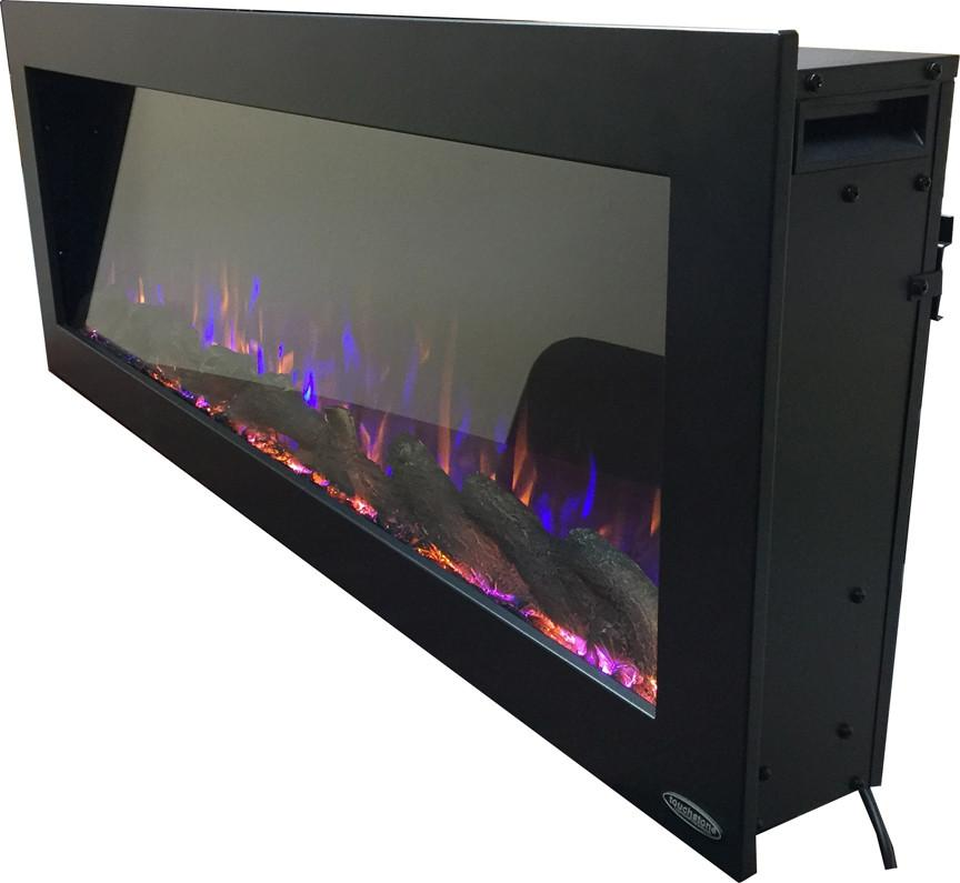 "Touchstone Sideline 50"" Outdoor (Wall inset design) Wall Mounted Electric Electric Fireplace Touchstone"