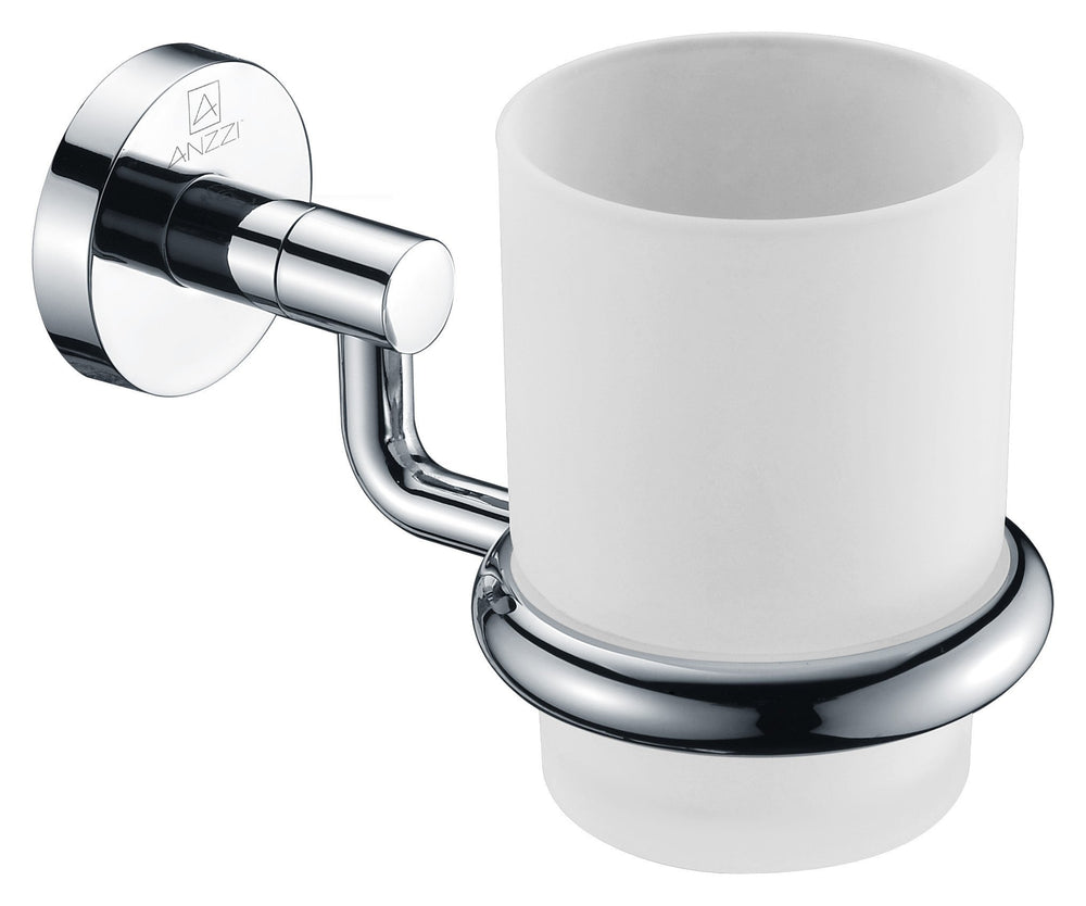 ANZZI Caster Series Toothbrush Holder in Polished Chrome Toothbrush Holder ANZZI