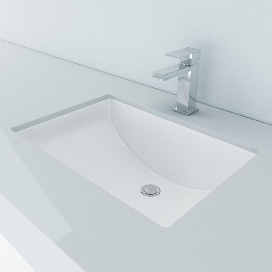 Cantrio Vitreous China undermount rectangle sink Ceramic Series Cantrio