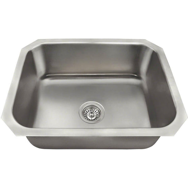 Usa made 18 gauge 23 5 stainless steel undermount kitchen sink set - American made stainless steel sinks ...
