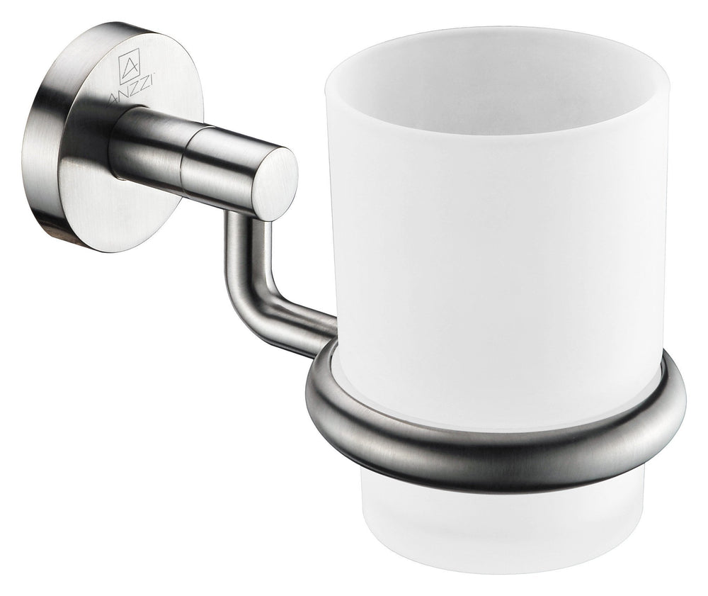 ANZZI Caster Series Toothbrush Holder in Brushed Nickel Toothbrush Holder ANZZI
