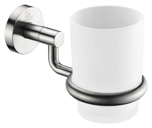 ANZZI Caster Series Toothbrush Holder in Brushed Nickel