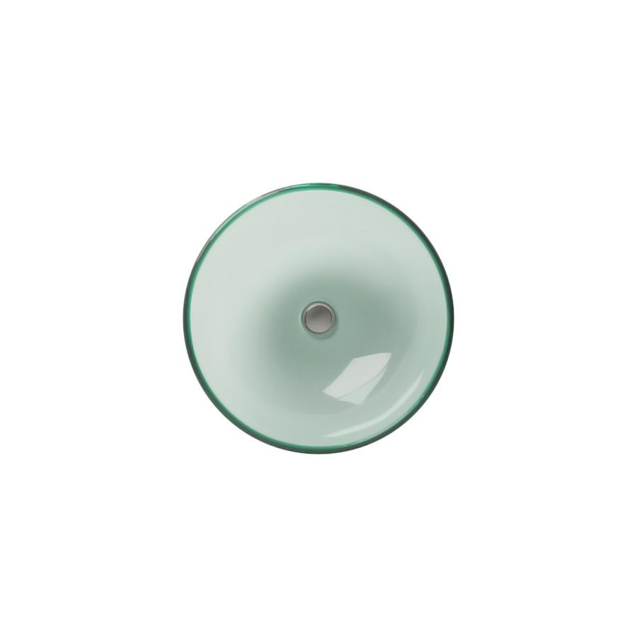 Cantrio Glass round vessel sink , Frosted Finish Glass Series Cantrio