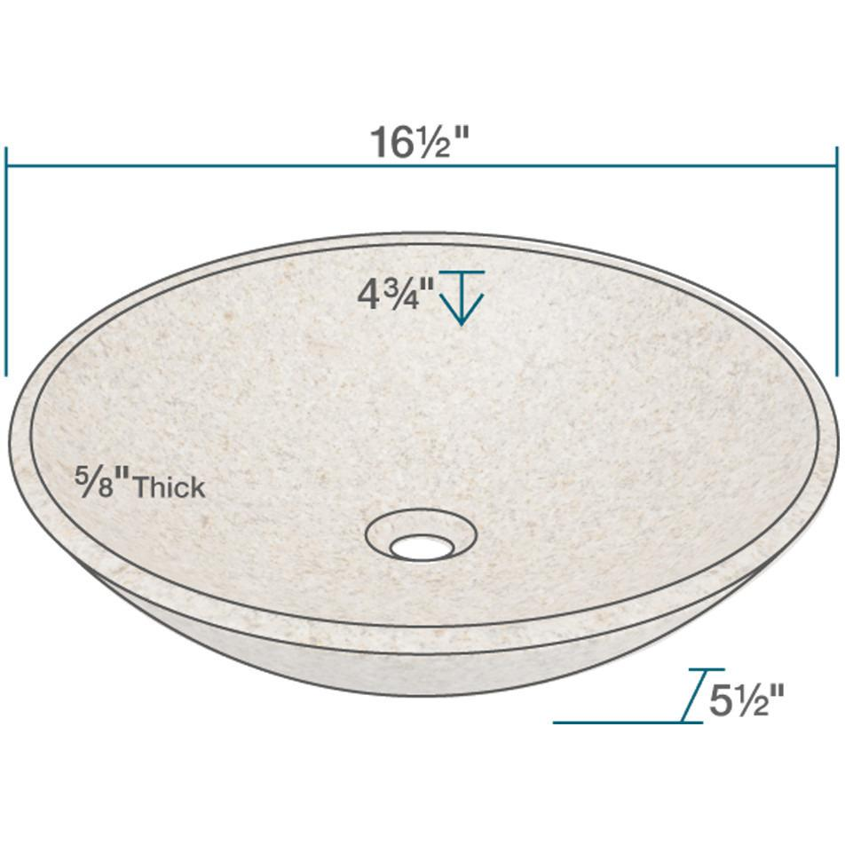 Polaris P058TN Granite Vessel Sink Stone Series Polaris