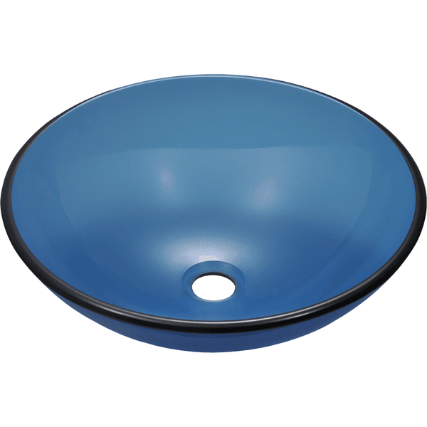 Vessel Sink - Polaris P106A Colored Glass Vessel Sink