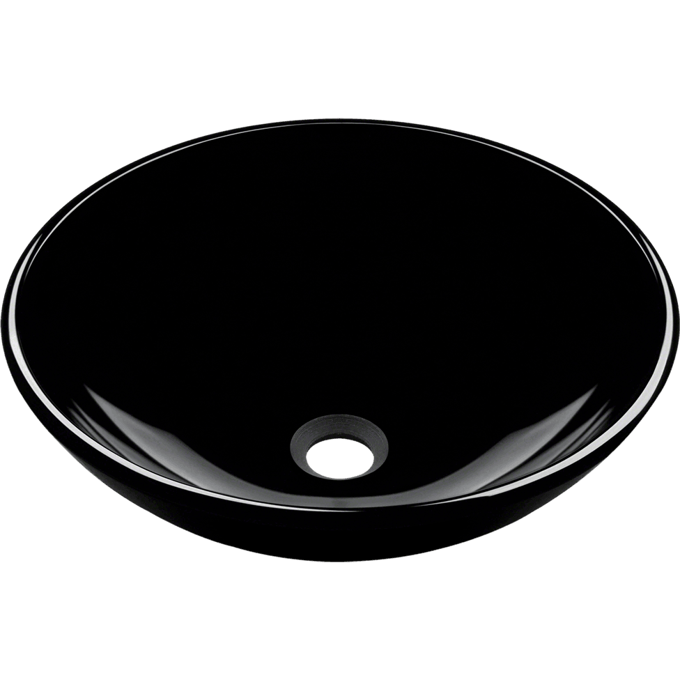 Polaris P106BL Dark Colored Glass Vessel Sink Vessel Sink Polaris