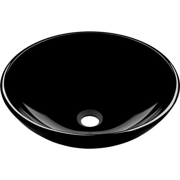 Vessel Sink - Polaris P106BL Dark Colored Glass Vessel Sink