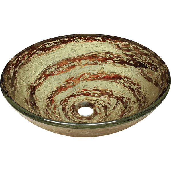 Vessel Sink - Polaris P136 Foil Undertone Glass Vessel Sink