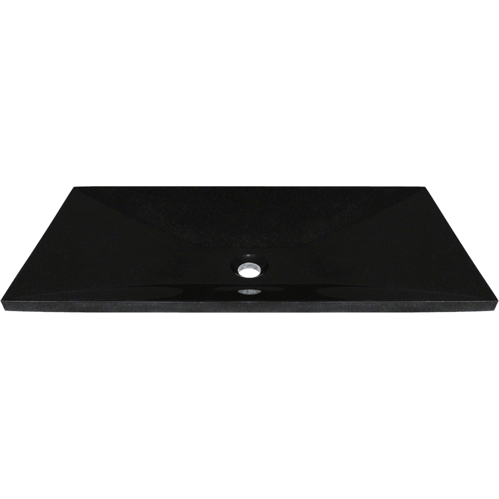 Polaris P168 Shanxi Black Vessel Sink Stone Series Polaris