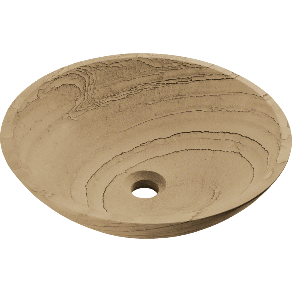 Polaris P258 Wood Sandstone Granite Vessel Sink Stone Series Polaris