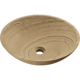 Vessel Sink - Polaris P258 Wood Sandstone Granite Vessel Sink