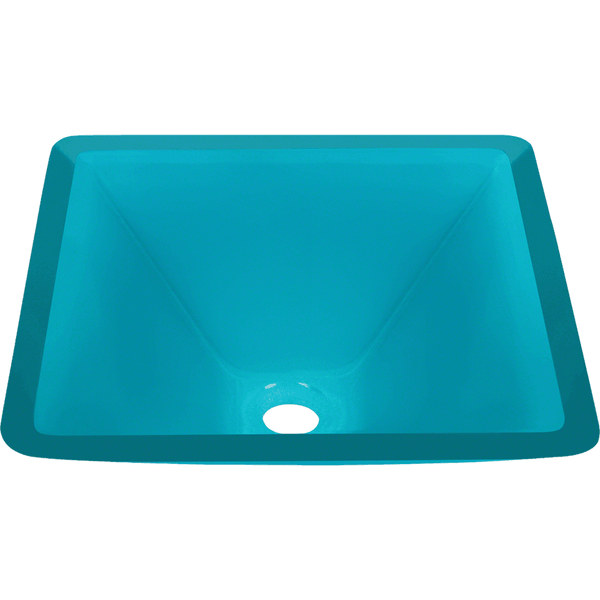 Vessel Sink - Polaris P306TQ Colored Glass Vessel Sink