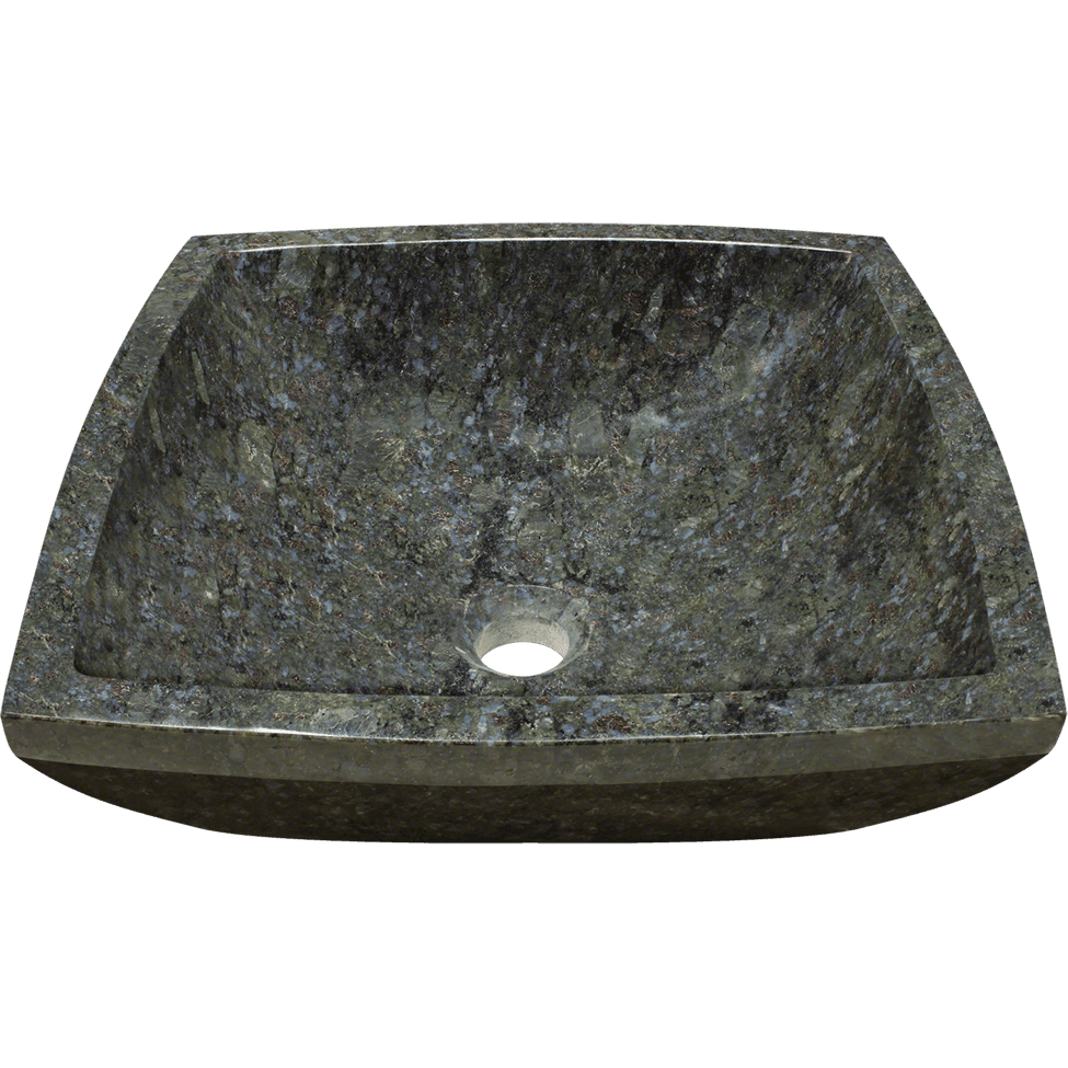Polaris P758 Butterfly Blue Granite Vessel Sink Stone Series Polaris