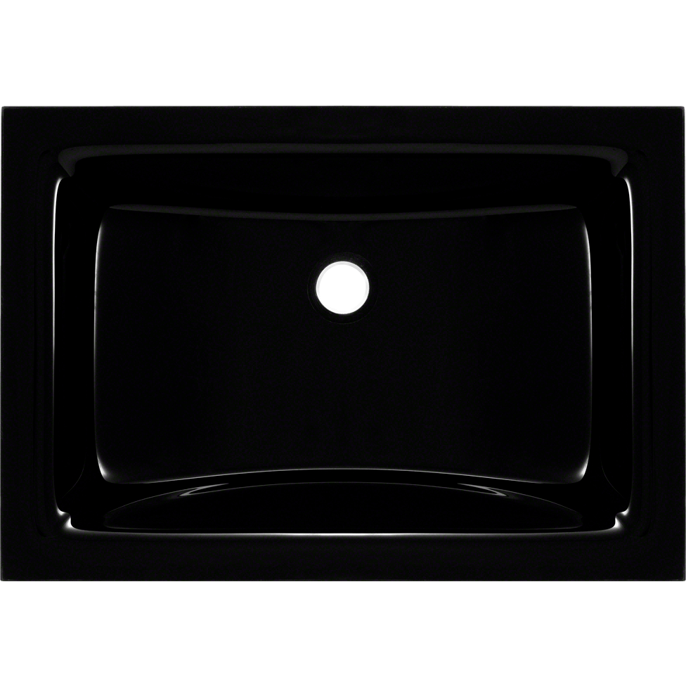 Polaris PUG3191BL Undermount Rectangular Glass Sink Vessel Sink Polaris